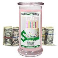 Birthday Cake Cash Money Candles, Surprise Candles, Cash Candle Gift