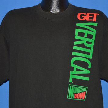 90s Mountain Dew Get Vertical t-shirt Extra Large