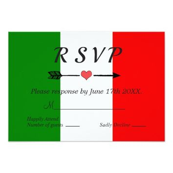 Italy Italian Wedding RSVP Card