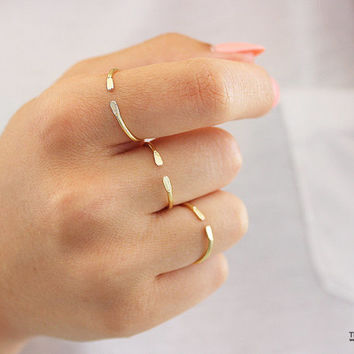 Open Ring,Stacking Ring, Adjustable Gold Rings,Open Gold Rings,Gold Stacking Rings,Stackable,Thin Gold Ring,Minimalist Ring,Dainty Gold Ring