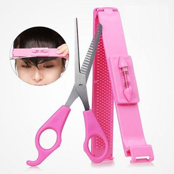 DCCKL72 New DIY Tools Makeup Artifact Style Hair Cutting Guide Layers Bang Hair Trimmer Clipper Clip Comb Fringe Cut