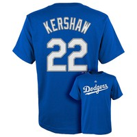 Majestic Los Angeles Dodgers Clayton Kershaw Tee - Boys 8-20, Size: