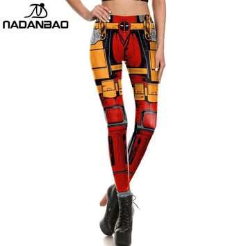 Deadpool Dead pool Taco NADANBAO Brand New Women leggings Comic style Super HERO  Leggins Printed leggins Woman Clothings AT_70_6