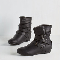Bring the Flair Bootie in Black | Mod Retro Vintage Boots | ModCloth.com