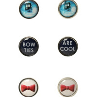 Doctor Who TARDIS Bow Tie Earring 3 Pair