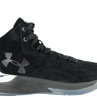 Under Armour Men's Curry 1 Mid Lux Suede Pack Black Silver