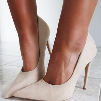 Deck The Halls Heels: Nude