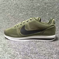 """NIKE"" Cortez Forrest gump Casual Running Sport Shoes Sneakers knit Army green black hook"