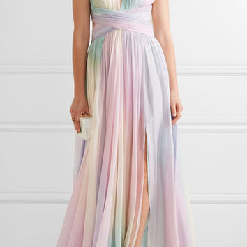 Zuhair Murad - Cutout pleated silk-blend chiffon gown