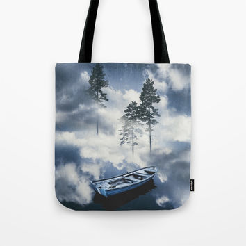 Forest sailing Tote Bag by happymelvin