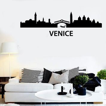Wall Stickers Vinyl Decal Venice Italy Europe Travel Tourism z1210