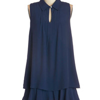 ModCloth Sleeveless Tent Cascade in the Shade Dress