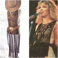 Music Festival Boho chic top, bohemian tunic maxi gypsy, Stevie Nicks gypsy style, romantic fall top, cowgirl glam, true rebel clothing, OS
