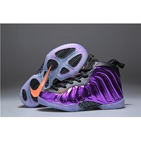 Kids Nike Air Foamposite One Purple Sneaker Shoe US 11C - 3Y