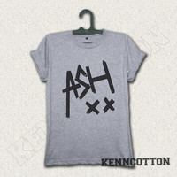 Ashton Irwin Shirt ASH 5SOS shirt 5 seconds of summer t-shirt logo grey gray 02