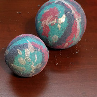 Galaxy bath bomb, star bath bomb, dark bath bomb, blue bath bomb