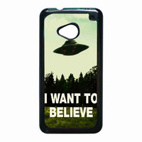 I Want To Believe X-Files for HTC One M7 case *02*