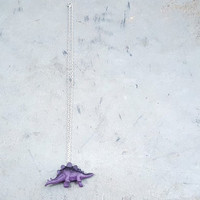 Stegosaurus Necklace, Dinosaur Necklace, Animal Necklace