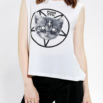 Five Crown Purr Evil Muscle Tee - Urban Outfitters