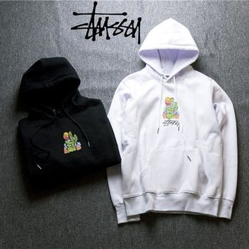 Stussy Embroidered Cactus Hoodies Sweater M Xxl   Best Deal Online