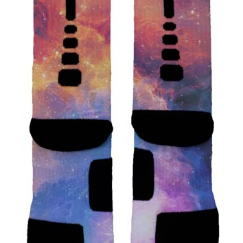 Flaming Galaxy Custom Nike Elites