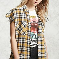 Frayed Plaid Shirt