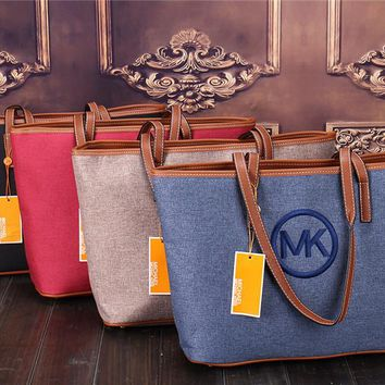 """Michael Kors"" Casual Fashion Large Capacity Shopper Single Shoulder Bag Women MK Temperament Big Handbag"