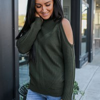 Fade Into Fall Sweater - Olive