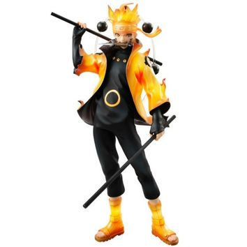 Naruto Sasauke ninja Action Figure  Uzumaki Six Immortal Mode Cartoon Doll PVC 21cm Box-packed Japanese Figurine World Anime New Arrive WX132 AT_81_8