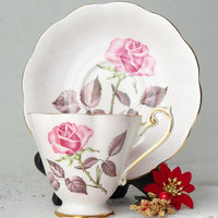 Royal Standard Pink Rose Teacup and Saucer Fine Bone China Tea Cup Set Made in England