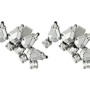 French Connection Jeweled Ear Cuff Earrings Set