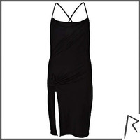 Black Rihanna knot front cami dress - dresses / jumpsuits - rihanna for river island - women