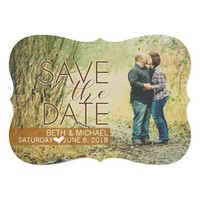 Vintage Photo Save The Date Card