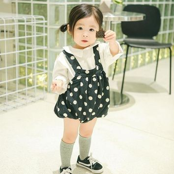 Hot Shorts New Children's Trousers Suspenders For Fall 2017 Infant Baby Girl  Baby Striped Bottoms Trousers Bloomers Baby GirlAT_43_3