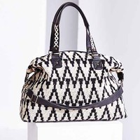 Ecote Woven Texture Weekender Bag