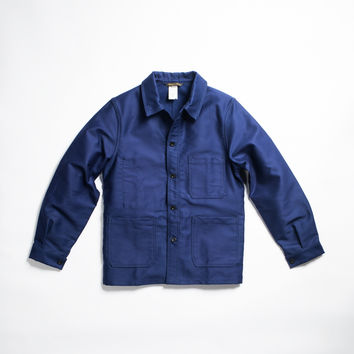 Le Laboureur Moleskin Work Jacket Navy - Hand-Eye Supply