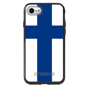 DistinctInk™ OtterBox Symmetry Series Case for Apple iPhone or Samsung Galaxy - Finland Flag