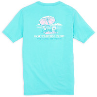 Ladies The Sea Will Set You Free Tee in Crystal Blue by Southern Tide