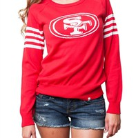 San Francisco 49ers Womens Varsity Sweater | SportyThreads.com