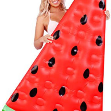 Inflatable Pool Floats; Watermelon Slice Pool Raft, 6 Ft.