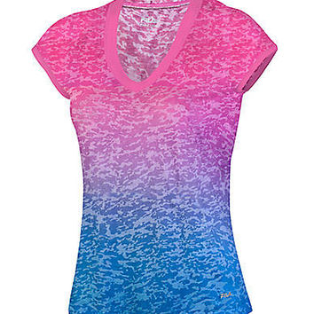 Parallax Short-Sleeve Burnout Tee | Lord and Taylor