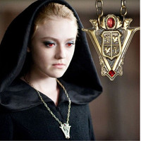 Twilight New Moon Peaks Tower Clock Necklace Antique Bronze Plated Vintage Style Jewelry
