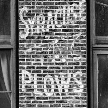 Vintage Hand-Painted Sign for Syracuse Plows on a Brick Wall in Nashville (RQ0A4983)