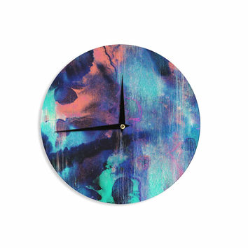 "Nina May ""Grotto Falls"" Blue Teal Wall Clock"