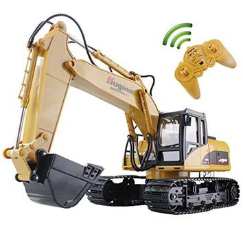 RC Excavator 15CH 2.4G Remote Control  Truck Crawler Digger Model Electronic Engineering Truck Toys For Children