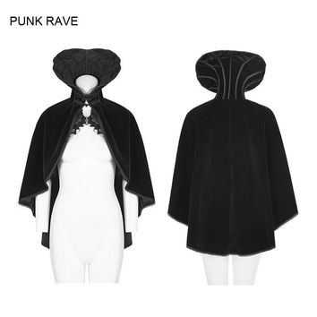 Trendy New Punk Rock Gothic Vintage Cosplay Necktie Cloak Coat Jacket Victorian Vampire Y782 AT_94_13