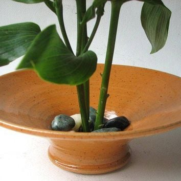 Bright Orange Ikebana Vase IN STOCK by LynnCardwellPottery