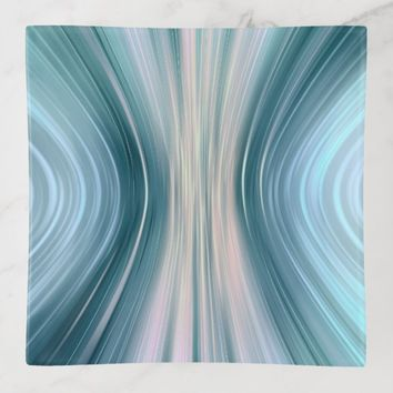 Aqua Turquoise Driving Dreams Square Trinket Tray