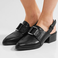 3.1 Phillip Lim - Quinn buckled leather slingback loafers