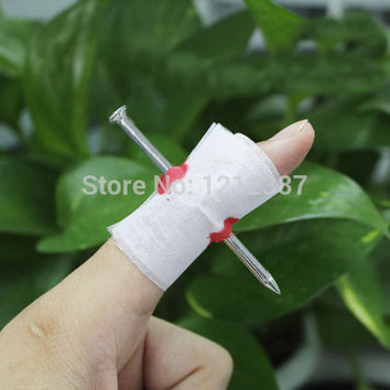 Fake Blood Manmade Nail Through Finger With Bandage April Fool Trick Prop Scary Toy HB88